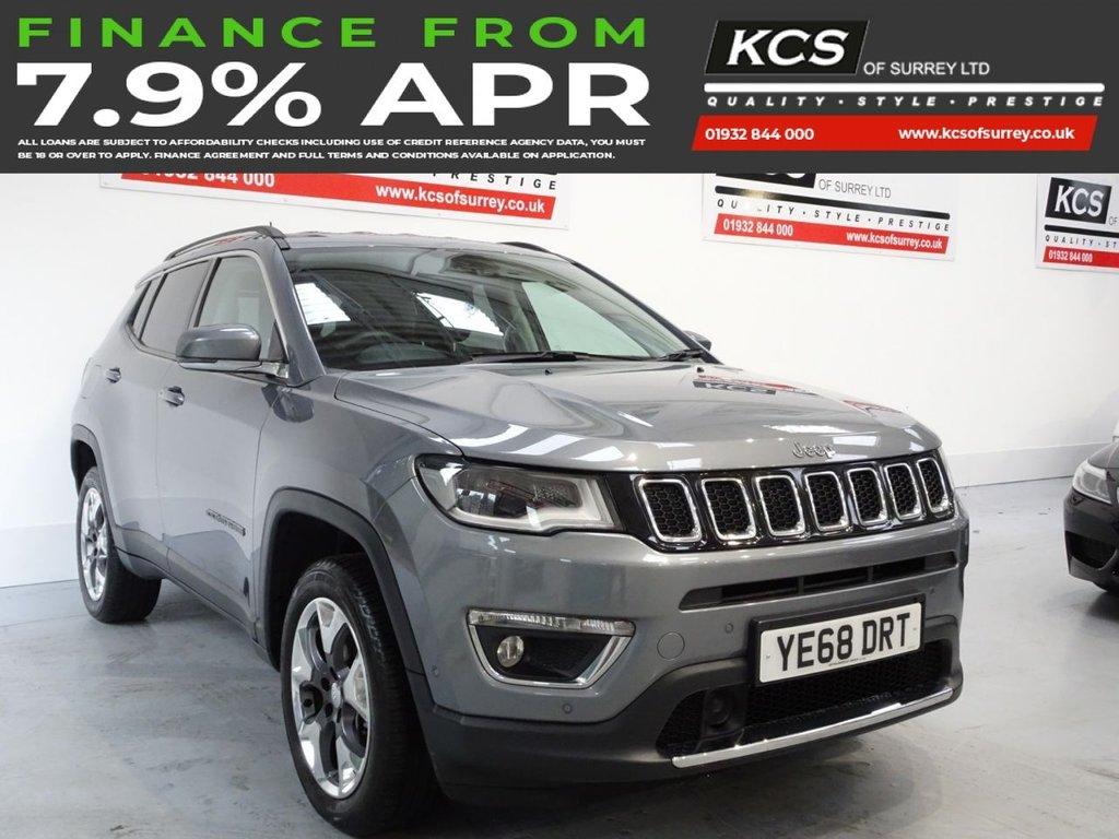 USED 2018 68 JEEP COMPASS 1.4 MULTIAIR II LIMITED 5d 168 BHP SAT NAV - HTD LEATHER - CAMERA