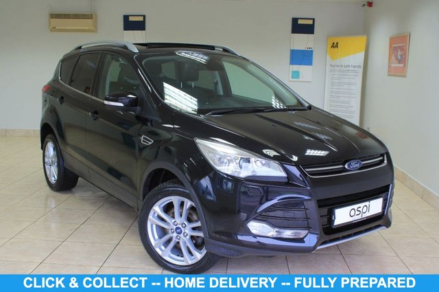 "USED 2016 16 FORD KUGA 2.0 TITANIUM X TDCI 5d 180 BHP FOUR WHEEL DRIVE BLACK LEATHER, SATELLITE NAVIGATION, CLIMATE CONTROL, PANORAMIC ROOF, REAR CAMERA, LOW MILEAGE, FOUR WHEEL DRIVE, FRONT & REAR PARKING SENSORS, REAR PRIVACY GLASS, 18"" ALLOY WHEELS, ALUMINIUM ROOF RAILS, HEATED FRONT SEATS, LECTRIC FOLDING MIRRORS, ELECTRIC DRIVERS SEAT, ADVANCED KEY, LUMBAR SUPPORT, BLUETOOTH, CRUISE CONTROL, VOICE ACTIVATION, ELECTRIC TAILGATE, MULTI FUNCTION STEERING WHEEL,"