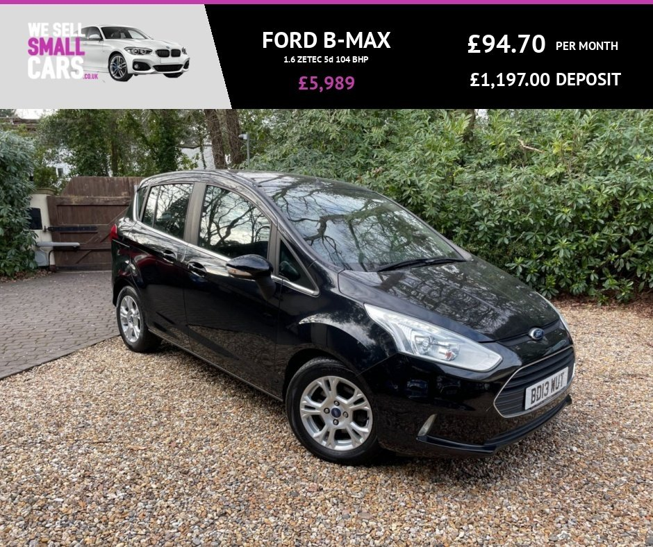 USED 2013 13 FORD B-MAX 1.6 ZETEC 5d 104 BHP FULL FORD SERVICE HISTORY DAB BLUETOOTH PHONE AIR CON LOW MILES