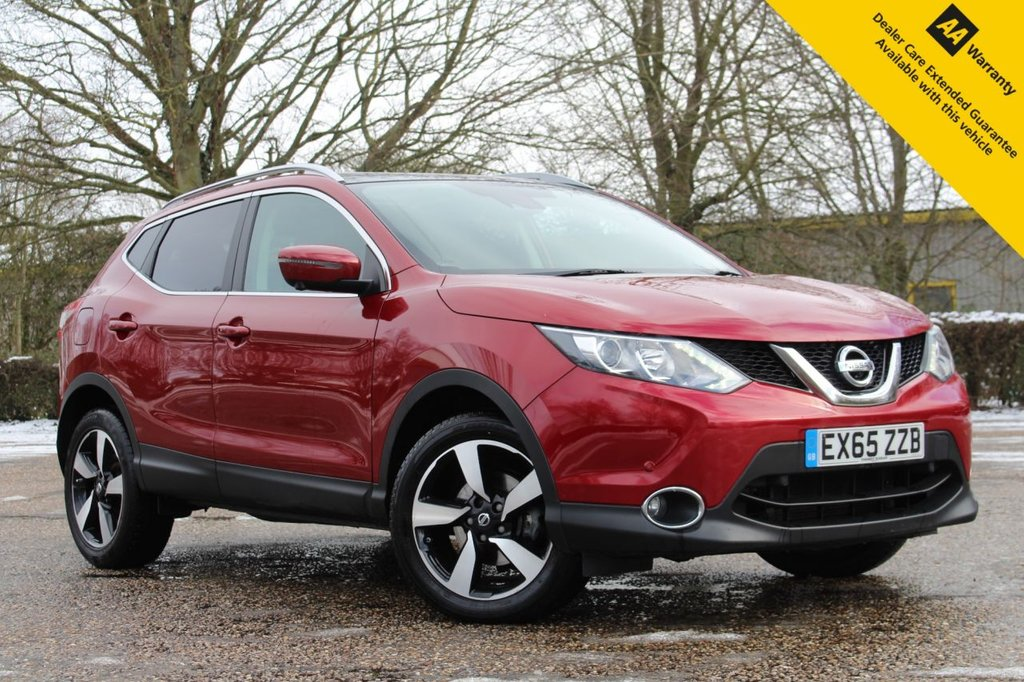 USED 2015 65 NISSAN QASHQAI 1.2 N-TEC PLUS DIG-T 5d 113 BHP ** 1 OWNER FROM NEW ** FULL SERVICE HISTORY ** LONG ADVISORY FREE MOT ** SAT NAV ** PANORAMIC GLASS ROOF ** 360 CAMERAS ** FRONT + REAR PARKIG SENSORS ** LANE ASSIST ** DAB RADIO ** CRUISE CONTROL ** CLIMATE CONTROL ** BLUETOOTH ** AUTO LIGHTS + WIPERS ** ULEZ CHARGE EXEMPT ** CLICK & COLLECT + NATIONWIDE DELIVERY AVAILABLE ** BUY ONLINE IN CONFIDENCE FROM A MULTI AWARD WINNING 5* RATED DEALER **