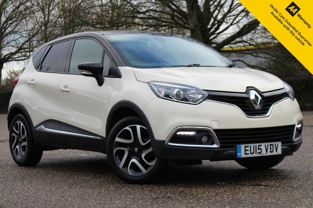 USED 2015 15 RENAULT CAPTUR 0.9 DYNAMIQUE S MEDIANAV ENERGY TCE S/S 5d 90 BHP ** FULL MAIN DEALER RENAULT SERVICE HISTORY ** BRAND NEW ADVISORY FREE MOT ** UPGRADED FRONT + REAR DASH CAMERAS **SAT NAV ** REAR PARKING AID ** KEYLESS ENTRY + PUSH BUTTON START ** CRUISE CONTROL ** BLUETOOTH ** CLIMATE CONTROL ** AUTO LIGHTS + WIPERS ** ULEZ CHARGE EXEMPT ** £30 ROAD TAX ** CLICK & COLLECT + NATIONWIDE DELIVERY AVAILABLE ** BUY ONLINE IN CONFIDENCE FROM A MULTI AWARD WINNING 5* RATED DEALER **