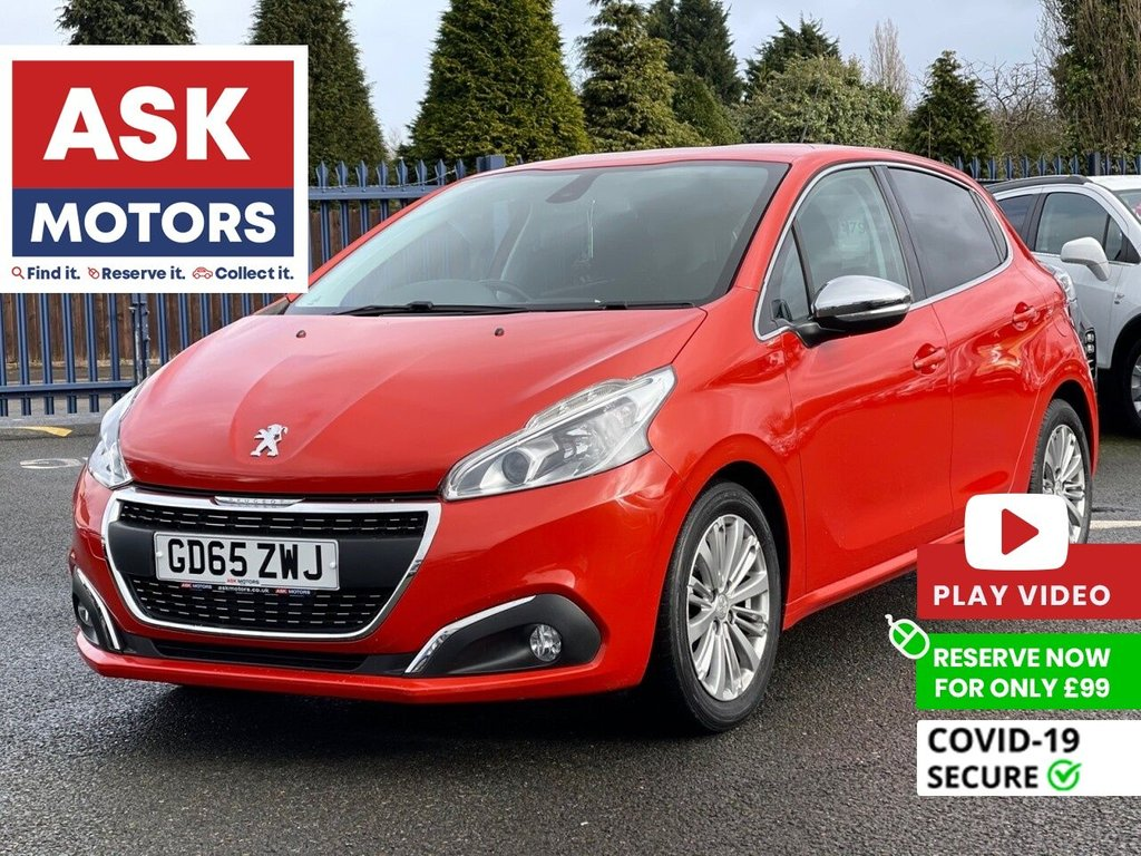 USED 2016 65 PEUGEOT 208 1.6 BLUE HDI S/S ALLURE 5d 75 BHP FREE ROAD TAX S/H APPLE CAR PLAY
