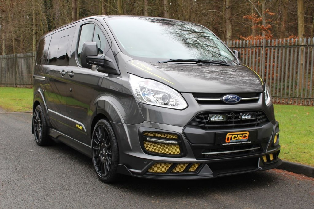 USED 2017 17 FORD TRANSIT CUSTOM 2.0 310 VR46 MS-RT M SPORT TOURNEO TDCI 5d 168 BHP A STUNNING, GENUINE MS-RT VR46 5 SEAT VAN WITH NO VAT, 20 INCH ALLOYS, UPGRADE SOUND SYSTEM AND MUCH MORE!!!
