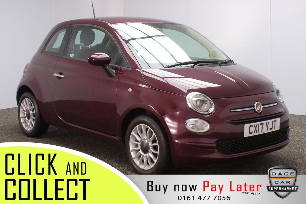USED 2017 17 FIAT 500 1.2 POP STAR 3DR 69 BHP AIR CONDITIONING + RADIO/CD + AUXILIARY PORT + ELECTRIC WINDOWS + ELECTRIC/HEATED DOOR MIRRORS