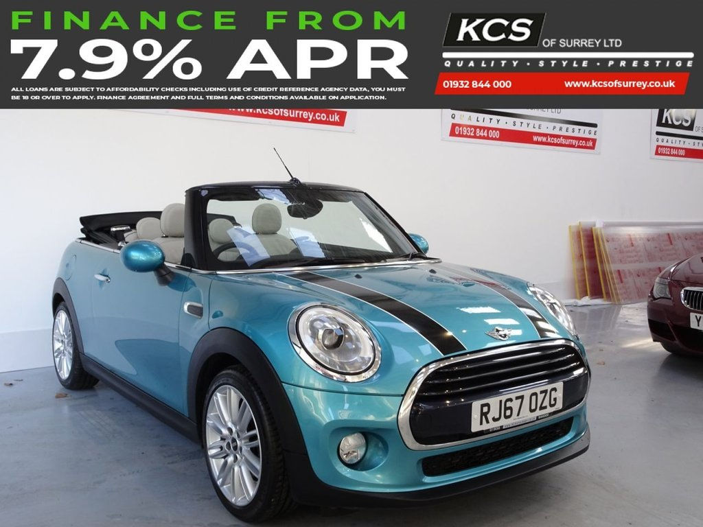 USED 2017 W MINI CONVERTIBLE 1.5 COOPER 2d 134 BHP CHILI PACK-SAT NAV-HTD LEATHER