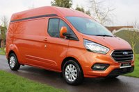USED 2019 19 FORD TRANSIT CUSTOM 2.0 300 LIMITED P/V L2 H2 129 BHP Long Wheel Base Hi Roof Limited Orange New Ford Colours + New Custom Shape -