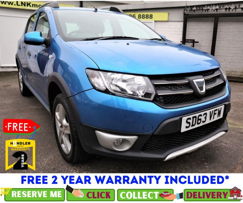 USED 2013 63 DACIA SANDERO STEPWAY 0.9 LAUREATE TCE 5d 90 BHP *CLICK & COLLECT OR DELIVERY *