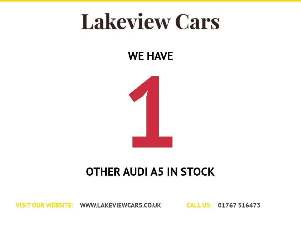 USED 2013 63 AUDI A5 2.0 TDI BLACK EDITION 2d 177 BHP