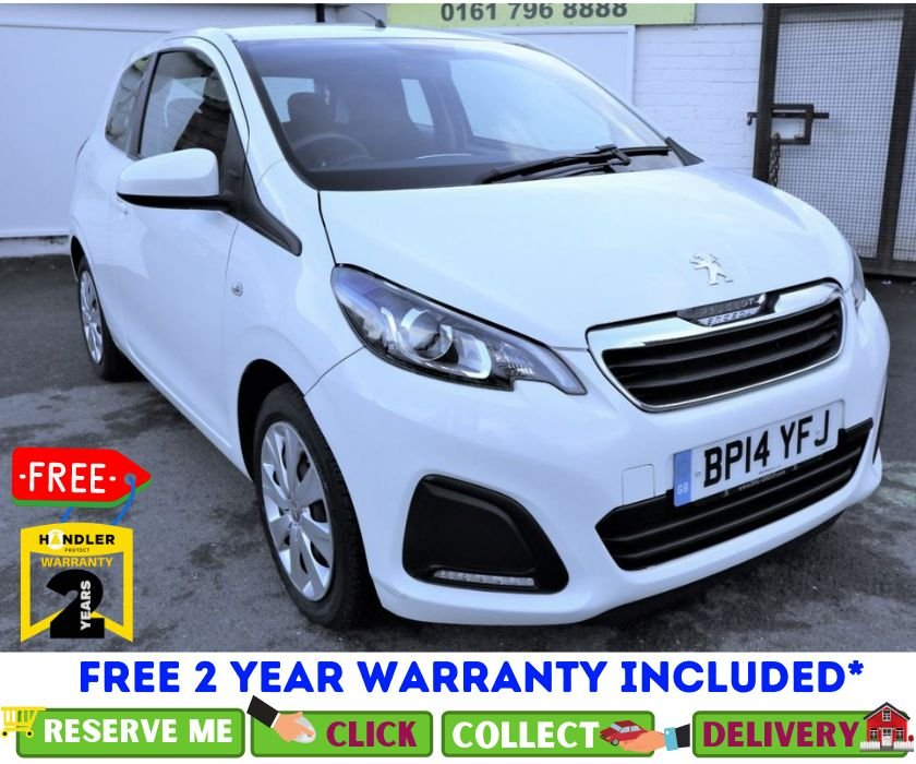 USED 2014 14 PEUGEOT 108 1.0 ACTIVE 3d 68 BHP *CLICK & COLLECT OR DELIVERY *
