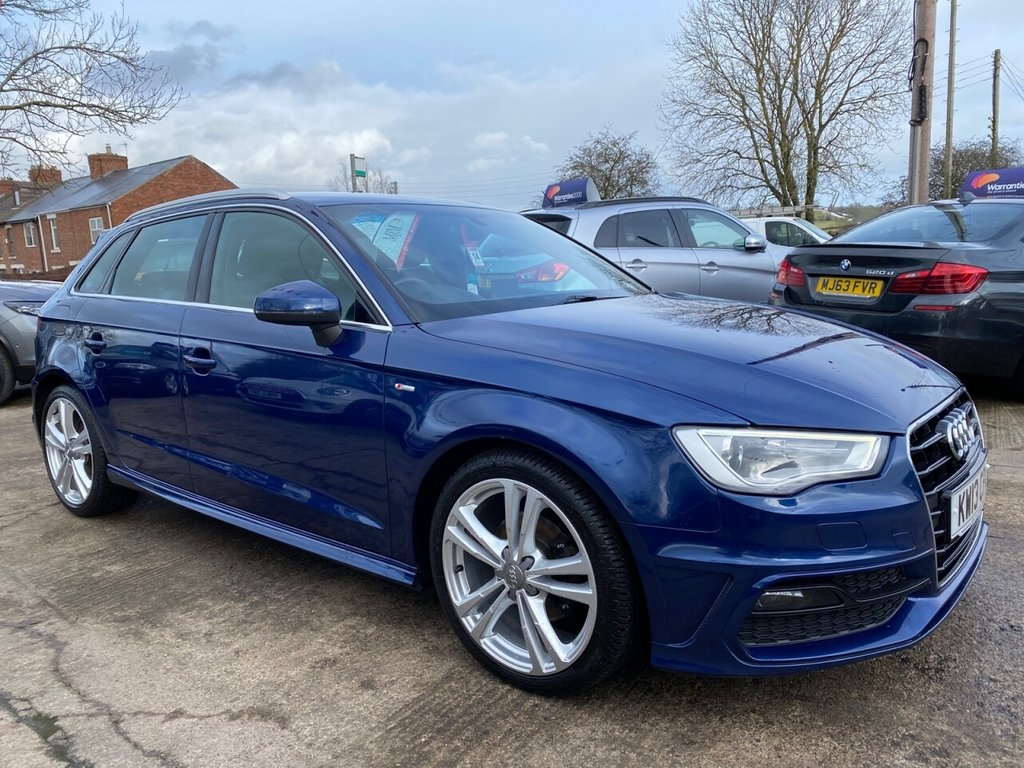 USED 2013 13 AUDI A3 2.0 TDI S LINE 5d 148 BHP * 1 OWNER * SAT NAV * PARKING AID * STUNNING THROUGHOUT *