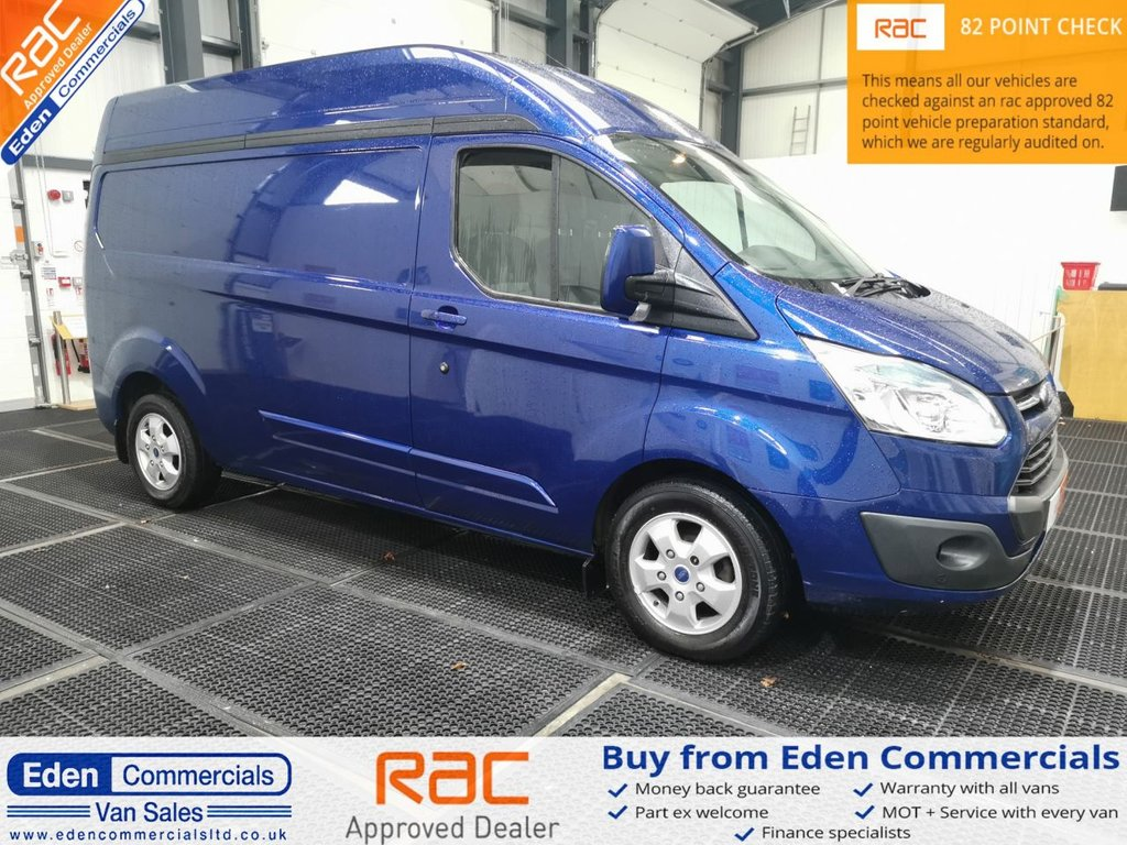 USED 2016 16 FORD TRANSIT CUSTOM 2.2 290 LIMITED LWB 124 BHP * HIGH ROOF *