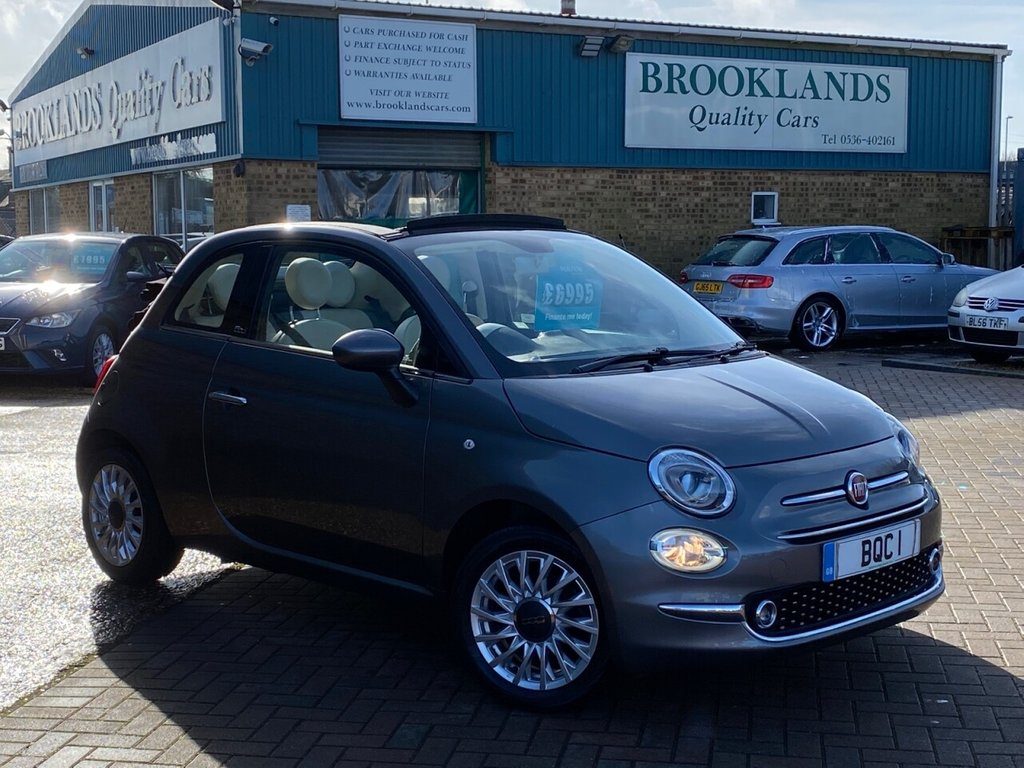 USED 2016 16 FIAT 500C 1.2 LOUNGE GROOVE METAL GREY MET. 69 BHP STUNNING FIAT 500C with low miles FSH ELECTRIC ROOF ALLOYS DAB CLIMATE CONTROL