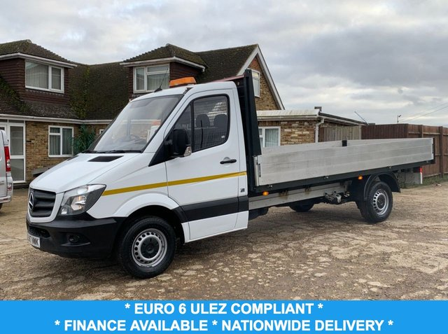 USED 2017 17 MERCEDES-BENZ SPRINTER 2.1 314CDI 140 BHP ALLOY DROPSIDE