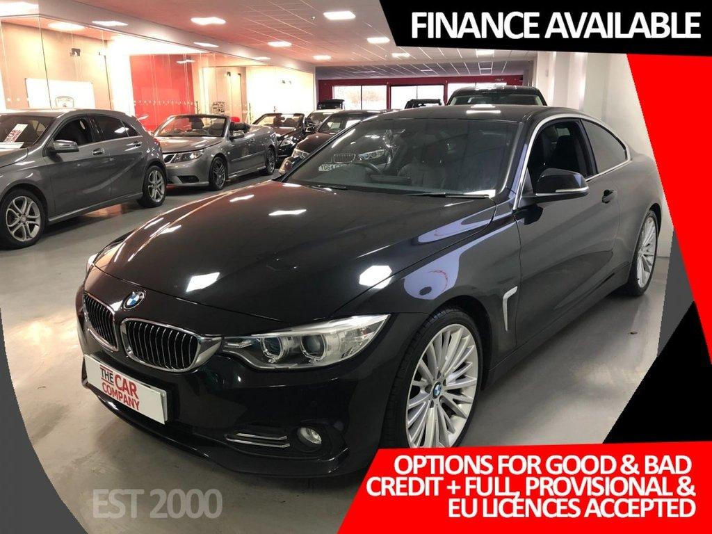 USED 2013 63 BMW 4 SERIES 2.0 420D LUXURY 2d 181 BHP * MEDIA PACK * COMFORT PACK * PRO NAV * 19s *