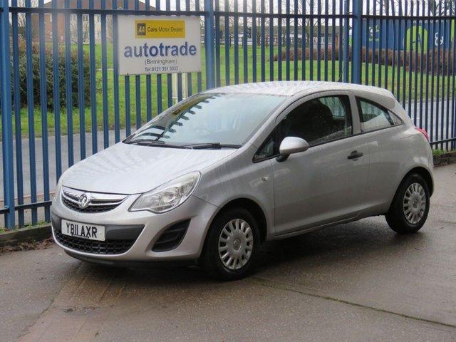 USED 2011 11 VAUXHALL CORSA 1.0 S ECOFLEX 3d 64 BHP £30 Road Tax & Great Fuel Economy