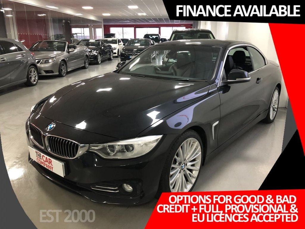 USED 2014 64 BMW 4 SERIES 2.0 420D LUXURY 2d 181 BHP * PRO NAV * HEATED LEATHER * 19 INCH ALLOYS *