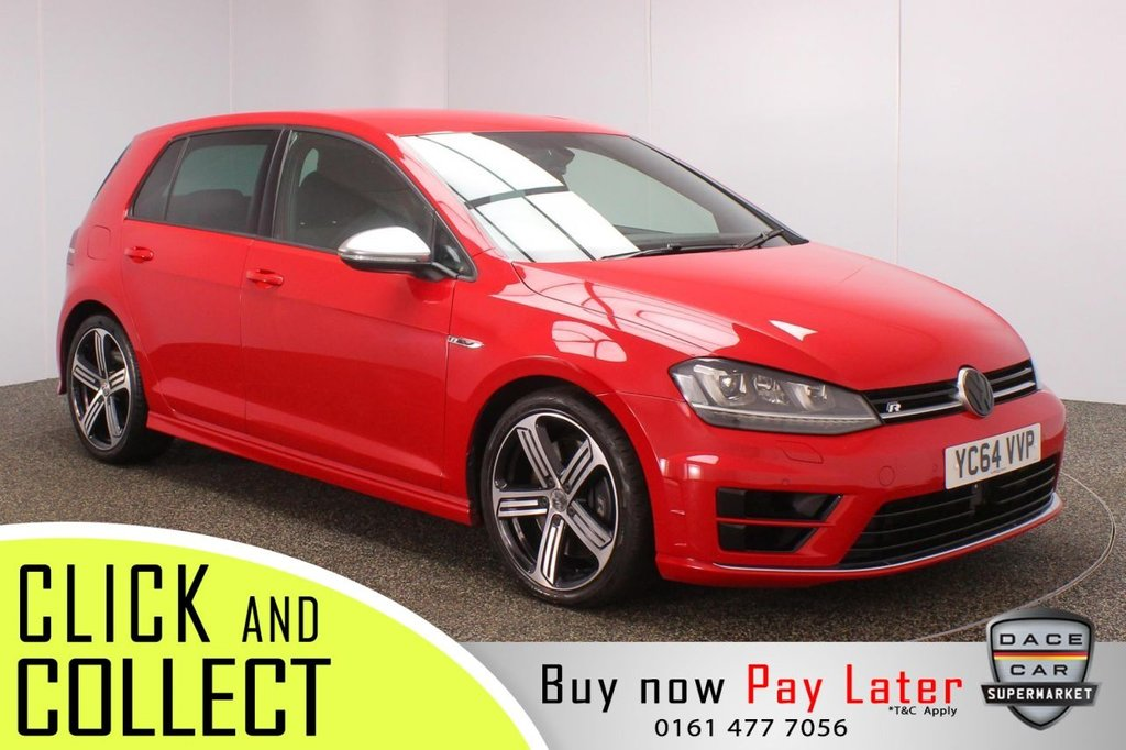 USED 2014 64 VOLKSWAGEN GOLF 2.0 R 5DR 298 BHP SERVICE HISTORY + PARKING SENSOR + BLUETOOTH + CRUISE CONTROL + CLIMATE CONTROL + MULTI FUNCTION WHEEL + XENON HEADLIGHTS + PRIVACY GLASS + DAB RADIO + ELECTRIC WINDOWS + ELECTRIC/HEATED/FOLDING DOOR MIRRORS + 18 INCH ALLOY WHEELS