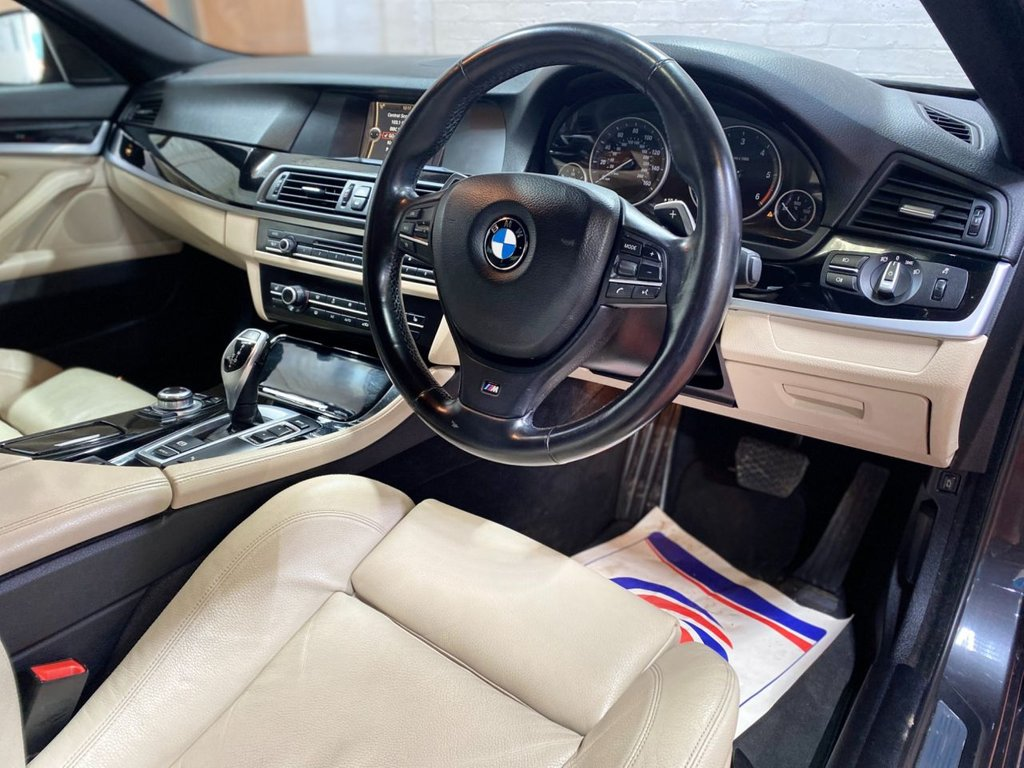USED 2012 62 BMW 5 SERIES 2.0 520D M SPORT 4d 181 BHP BMW, 520D AUTO, FSH, 79K MILES, CREAM LEATHER PLUS LOTS OF EXTRAS