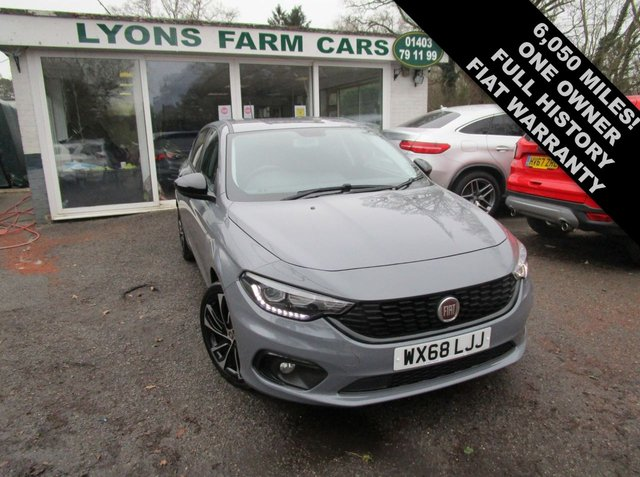 USED 2018 68 FIAT TIPO 1.4 T-JET S DESIGN 5d 120 BHP Only 6,050 miles covered from new by One Owner, Full Service History + Just Serviced, Balance of Fiat Warranty + MOT until September 2021