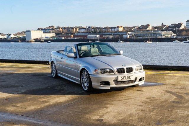 """USED 2001 51 BMW 3 SERIES 2.5 325CI 2d 190 BHP Very good example in Titanium Silver with heated grey leather interior,sports electric seats ,black electric power roof in great condition ,18"""" unmarked Sports alloys, Navigation system with TV(may need cassette/part replacing to work),all electric pack,Xenon headlamps, hi-fi Harman Kardon -some service history/invoices too with only 4 prev owner last one for 9 years ,recent new rear bushes/wishbones and JAN 2022 MOT -looks amazing for year and are starting to become a future investment -with 19"""
