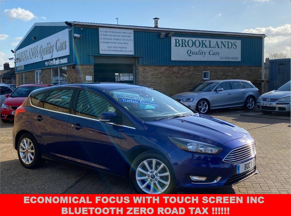 USED 2016 66 FORD FOCUS 1.5 TITANIUM TDCI 5 Door Deep Impact Blue Metallic 118 BHP Economical Focus With Touch Screen Inc Bluetooth Zero Road TAX !!!!!!