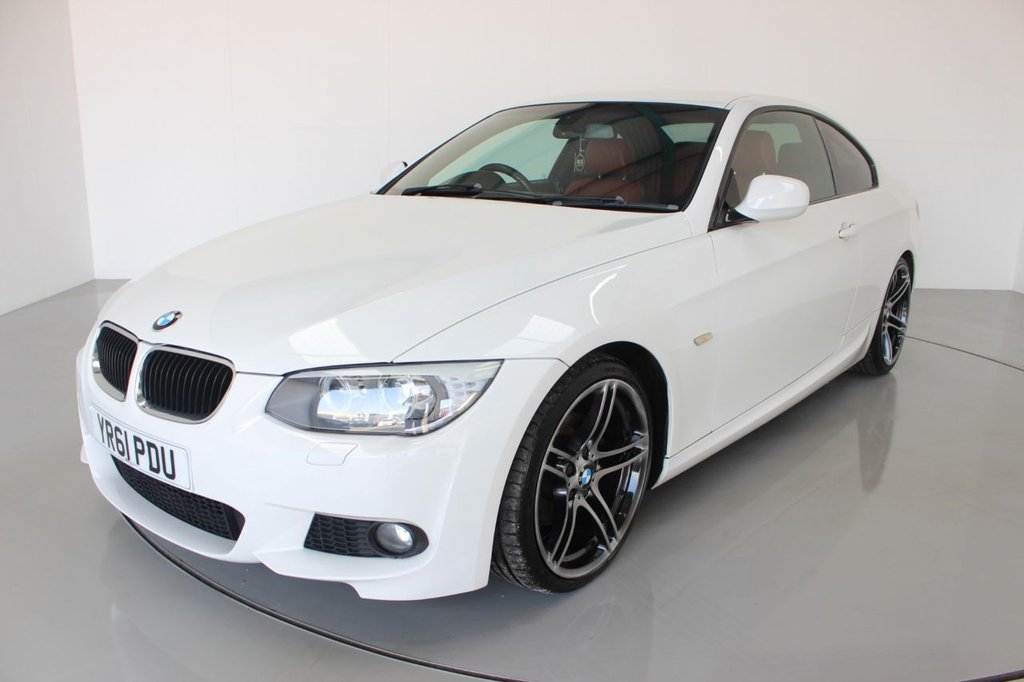 USED 2011 61 BMW 3 SERIES 2.0 320D M SPORT 2d-CATEGORY N-NO FINANCE AVAILABLE ON THIS CAR-PREVIOUSLY SOLD BY OURSELF IN 2015-PICTURES OF DAMAGE AVAILABLE ON REQUEST-2 FORMER KEEPERS-HEATED CORAL RED DAKOTA LEATHER-REAR PARKING SENSORS-CRUISE CONTROL-UPGRADE 19