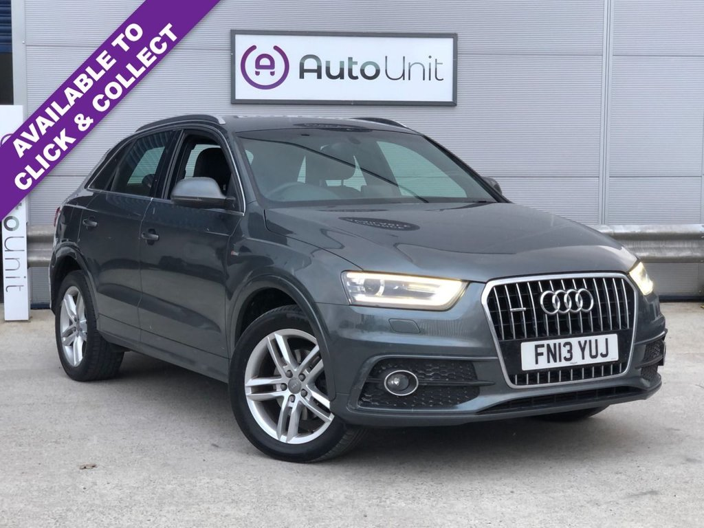 USED 2013 13 AUDI Q3 2.0 TFSI QUATTRO S LINE 5d 208 BHP FULL SERVIVE HISTORY + SAT NAV + FULL HEATED LEATHER + CLIMATE