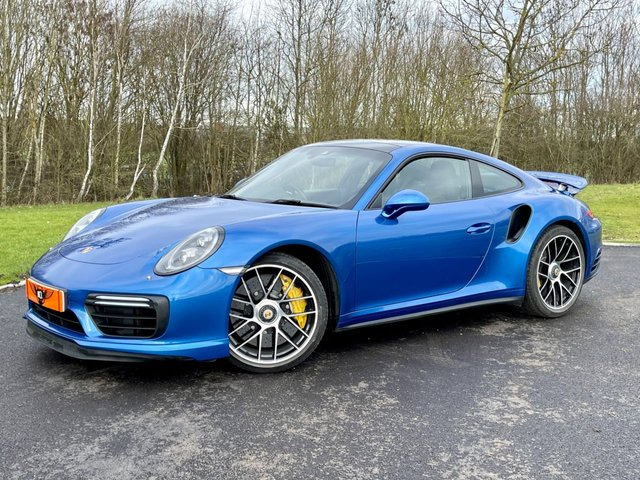 USED 2017 17 PORSCHE 911 3.8 TURBO S PDK 572 BHP AUTO 2DR COUPE +PAN ROOF+BOSE SOUND+ONLY 12K