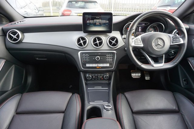 USED 2017 17 MERCEDES-BENZ CLA 2.1 CLA 220 D AMG LINE 4d 174 BHP GREAT SPEC ARRIVING NOW . PANROOF , LEATHER NAV CLICK AND DELIVER