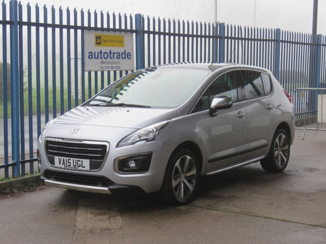 USED 2015 15 PEUGEOT 3008 1.6 BLUE HDI S/S ALLURE 5d 120 BHP Sat Nav & Pan Roof £20 Road Tax-Panoramic Roof-Sat Nav with Heads up Display