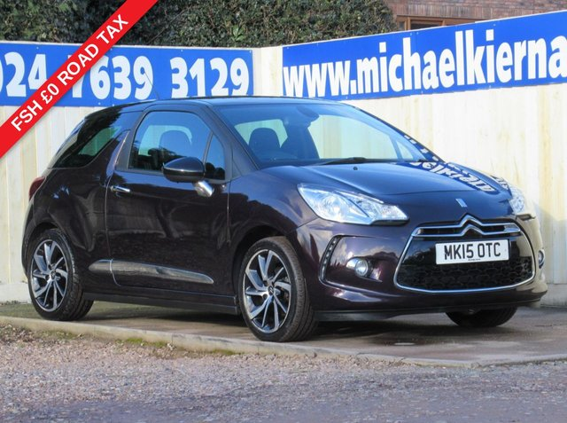 USED 2015 15 CITROEN DS3 1.6 E-HDI DSTYLE PLUS 3d 90 BHP IMMACULATE