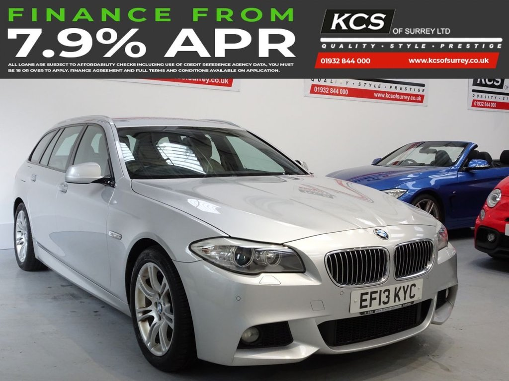 USED 2013 13 BMW 5 SERIES 2.0 520D M SPORT TOURING 5d 181 BHP PRO NAV - HEATED LEATHER