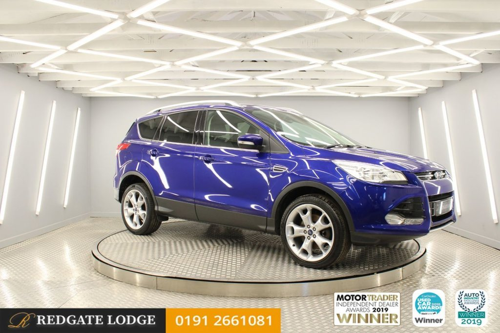USED 2015 D FORD KUGA 2.0 TITANIUM TDCI 5d 148 BHP BLUETOOTH, DAB, LEATHER, TINTED GLASS, UPGRADED FRESHLY POWDER COATED ALLOYS...