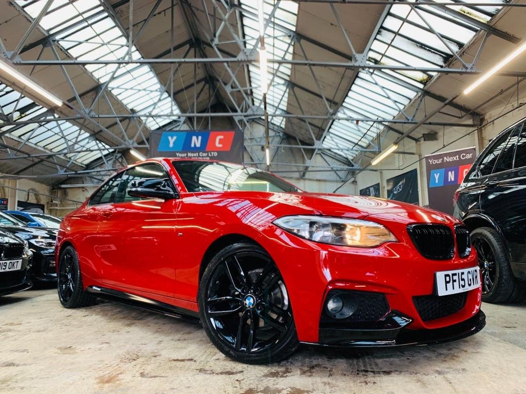USED 2015 15 BMW 2 SERIES 2.0 218d M Sport (s/s) 2dr PERFORMANCE KIT PRO NAV!