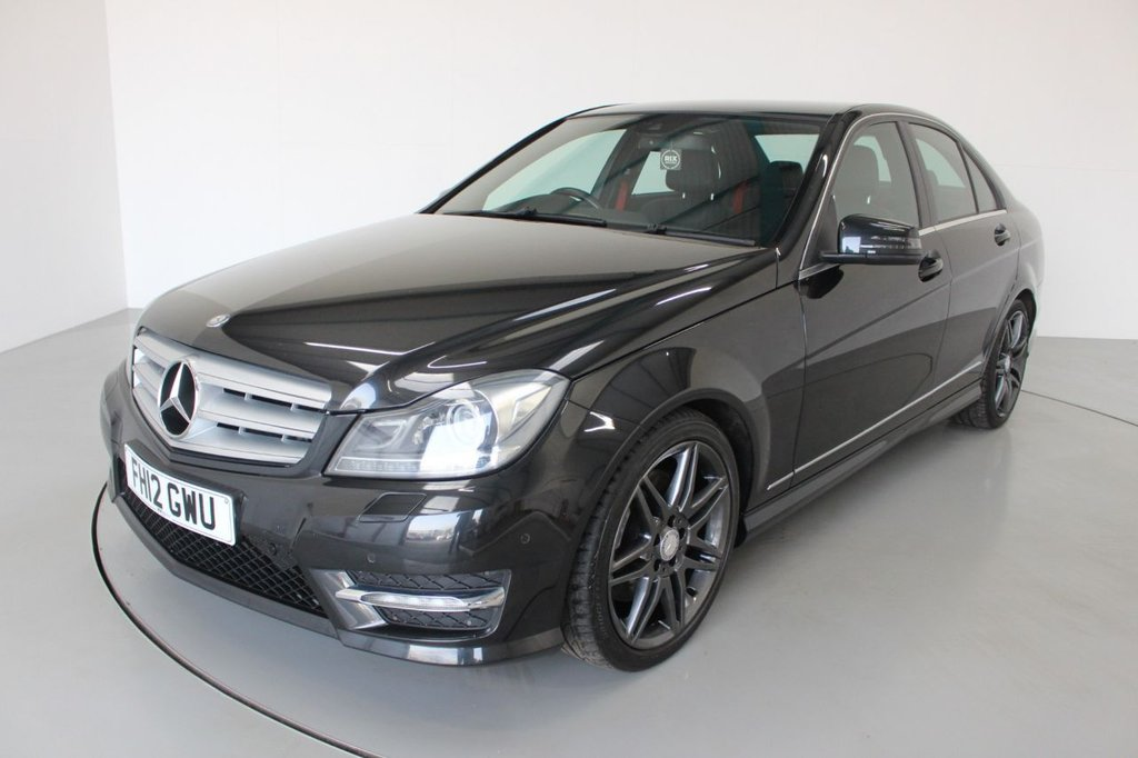 USED 2012 12 MERCEDES-BENZ C-CLASS 3.0 C350 CDI BLUEEFFICIENCY AMG SPORT PLUS 4d AUTO 262 BHP-2 OWNER CAR-LOW MILEAGE EXAMPLE-HALF LEATHER-18