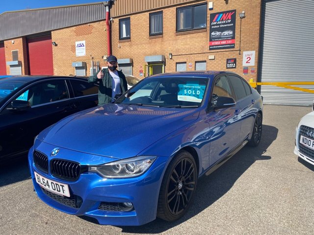 2014 64 BMW 3 SERIES 2.0 320D M SPORT 4d 181 BHP SAT NAV HEATED FRONT SEATS 19 INCH ALLOYS HARMON KARDON SOUND  SOLD TO CRAIG FROM ROTHERHAM