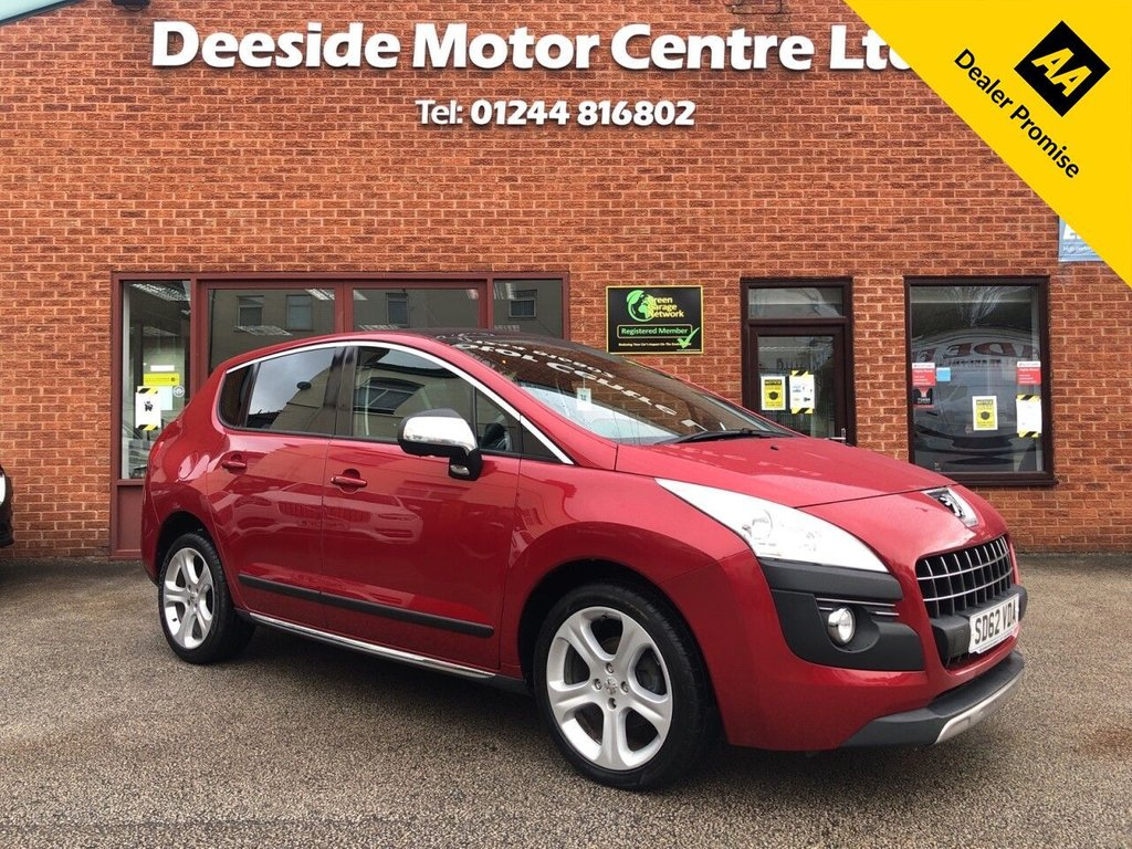USED 2012 62 PEUGEOT 3008 1.6 ALLURE E-HDI FAP 5d 112 BHP Panoramic glass roof : Peugeot Head-Up display : Bluetooth : Cloth upholstery : Optional paddleshift controls : Air-conditioning/Climate control : Split tailgate : Rear window blinds : Rear parking sensors : Cargo/Load cover