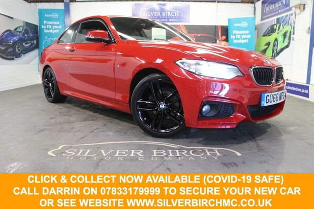 USED 2016 66 BMW 2 SERIES 2.0 218D M SPORT 2d 148 BHP Full Leather, navigation