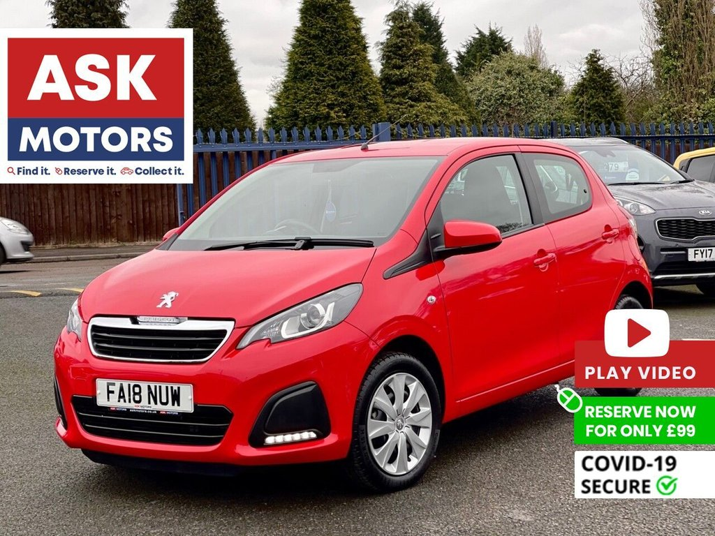USED 2018 18 PEUGEOT 108 1.0 ACTIVE 5d 72 BHP 1 REG KEPER APPLE CAR PLAY