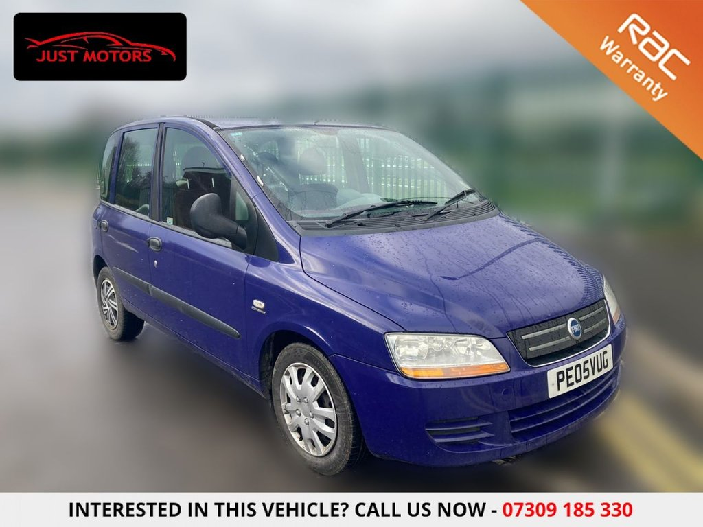 USED 2005 05 FIAT MULTIPLA 1.9 JTD DYNAMIC 5d 115 BHP 6 SEATER + 12 MONTH MOT