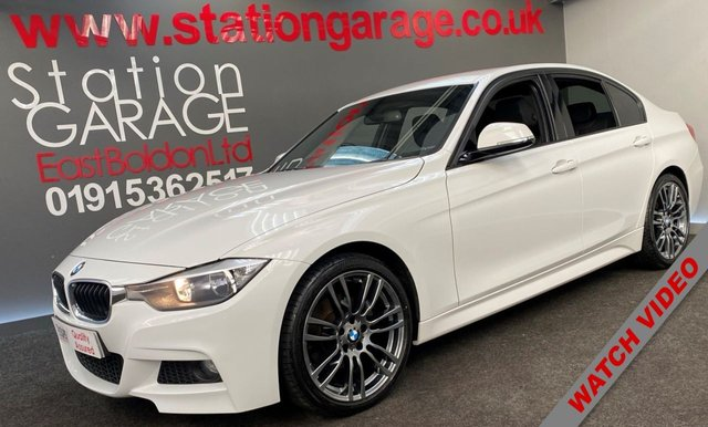 USED 2013 13 BMW 3 SERIES 2.0 320D M SPORT 4d 181 BHP FACE LIFT 320D FULL M SPORT FINISHED IN WHITE WITH FULL HEATED SPORT LEATHER SEATS