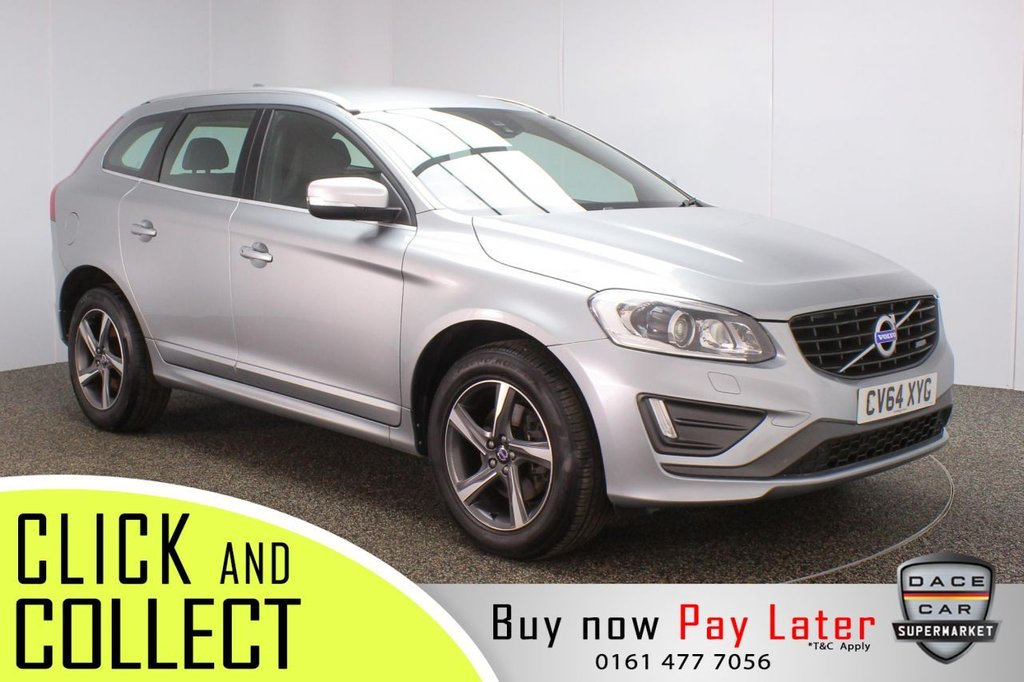 USED 2014 64 VOLVO XC60 2.4 D4 R-DESIGN LUX NAV AWD 5DR AUTO 178 BHP + SAT NAV + LEATHER  FULL VOLVO SERVICE HISTORY + HEATED LEATHER SEATS + SATELLITE NAVIGATION + PARKING SENSOR + BLUETOOTH + CRUISE CONTROL + CLIMATE CONTROL + MULTI FUNCTION WHEEL + XENON HEADLIGHTS + DAB RADIO + AUX/USB PORTS + ELECTRIC WINDOWS + ELECTRIC/HEATED/FOLDING DOOR MIRRORS + 18 INCH ALLOY WHEELS