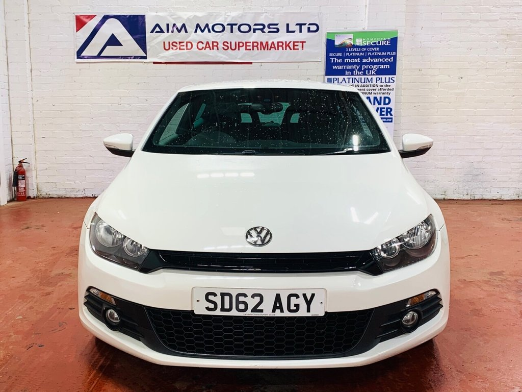 USED 2012 62 VOLKSWAGEN SCIROCCO 2.0 TDI BLUEMOTION TECHNOLOGY DSG 2d 140 BHP 65K LOW MILES FSH 2 PRE OWNERS LONG MOT
