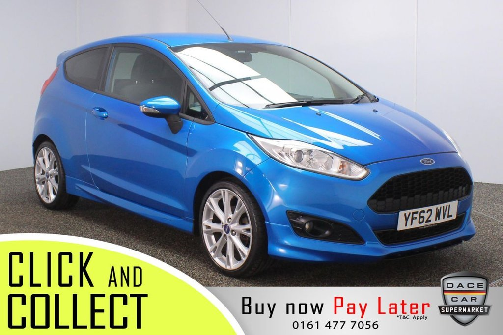 USED 2013 62 FORD FIESTA 1.0 ZETEC S 3DR 124 BHP + LOW MILES FREE 12 MONTHS ROAD TAX + BLUETOOTH + MULTI FUNCTION WHEEL + AIR CONDITIONING + PRIVACY GLASS + DAB RADIO + AUX/USB PORTS + ELECTRIC WINDOWS + ELECTRIC MIRRORS + 17 INCH ALLOY WHEELS