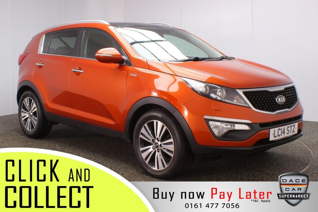 USED 2014 14 KIA SPORTAGE 2.0 CRDI KX-3 5DR 134 BHP + PAN ROOF + LEATHER  KIA SERVICE HISTORY + HEATED LEATHER SEATS + REVERSING CAMERA + PANORAMIC ROOF + XENON HEADLIGHTS + HEATED REAR SEATS + BLUETOOTH + CRUISE CONTROL + CLIMATE CONTROL + MULTI FUNCTION WHEEL + XENON HEADLIGHTS + PRIVACY GLASS + DAB RADIO + AUX/USB PORTS + ELECTRIC WINDOWS + ELECTRIC/HEATED/FOLDING DOOR MIRRORS + 18 INCH ALLOY WHEELS