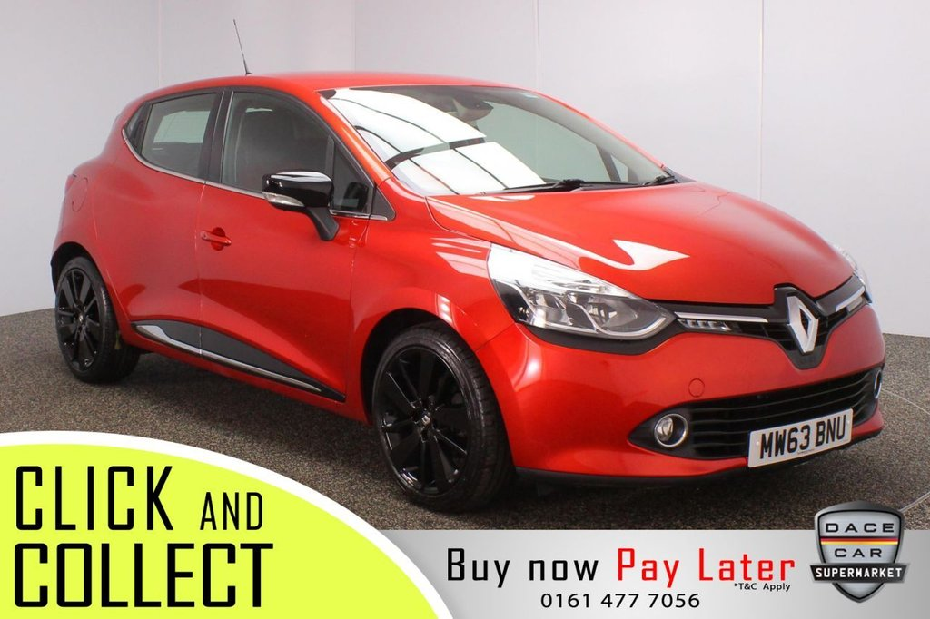 USED 2014 63 RENAULT CLIO 0.9 DYNAMIQUE S MEDIANAV ENERGY TCE S/S 5DR 90 BHP + SAT NAV  £20 12 MONTHS ROAD TAX + SATELLITE NAVIGATION + PARKING SENSOR + BLUETOOTH + CRUISE CONTROL + CLIMATE CONTROL + MULTI FUNCTION WHEEL + RADIO/CD + ELECTRIC WINDOWS + ELECTRIC/HEATED/FOLDING DOOR MIRRORS + 17 INCH ALLOY WHEELS IN BLACK
