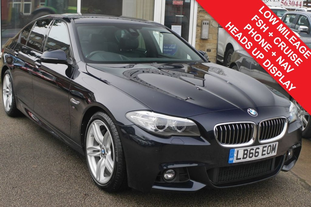 USED 2016 66 BMW 5 SERIES 3.0 530D M SPORT PLUS 4d AUTO 255 BHP