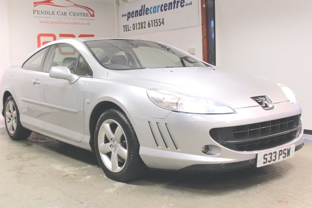 USED 2007 S PEUGEOT 407 2.2 COUPE SE 2d 161 BHP SAT NAV + LOW MILEAGE + RAC PLATINUM WARRANTY + FULL LEATHER