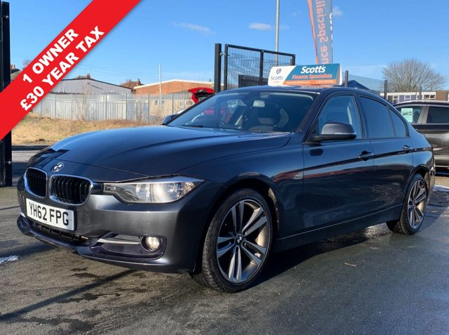 USED 2012 62 BMW 3 SERIES 2.0 320D SPORT 4 DOOR GREY DIESEL 1 OWNER FSH LOW TAX