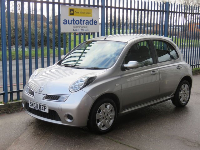 USED 2008 58 NISSAN MICRA 1.2 ACENTA 5d 80 BHP Air conditioning & CD player